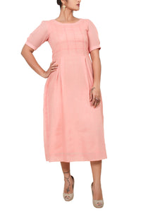 Smart cotton mull dress