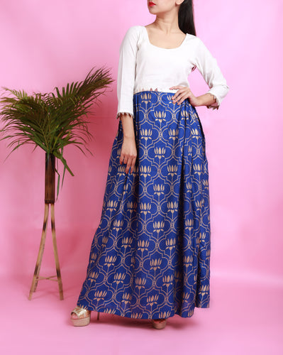 BLUE THAAMARAI DRESS