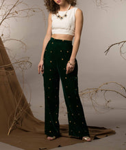 Embellished pants and crop top