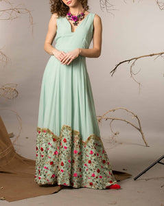Mint green Embroidered gown