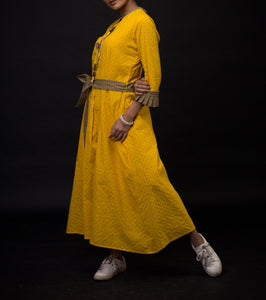 Yellow dobby tunic