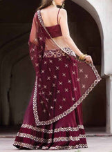 Maroon Lehenga with blouse and Dupatta