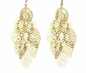 Vintage Retro Bohemian Tassel Leaf Earrings