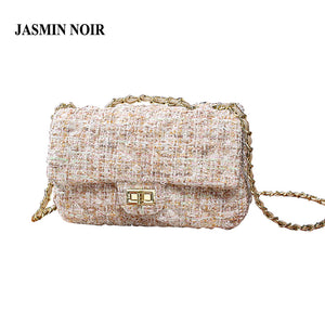 Winter New Fashion Wool Bag Women Messenger Bags Crossbody Bags Chain Small Women's Shoulder Bag For Ladies Designer Handbags
