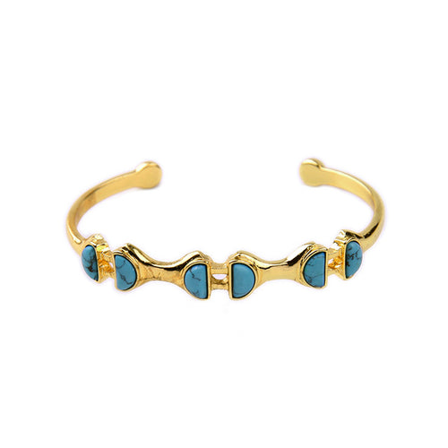 Women's vintage alloy bracelet with synthetic stone