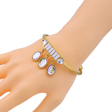 Women's iron alloy vintage open bangle