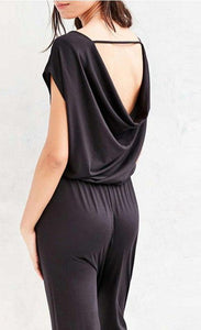 Women's elegant backless casual jumpsuit