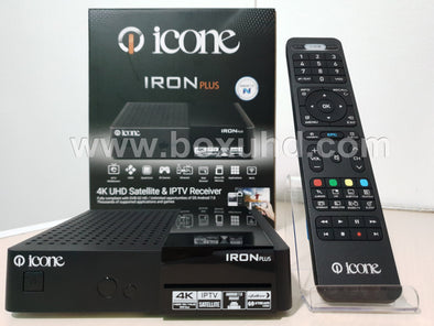 NEW 2019 ICONE IRON 4K PLUS MULTISTREAM SATELLITE & ANDROID IPTV RECEIVER