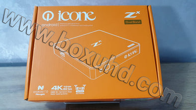New 2020 icone Zx Android Box + 24 Months Server GOGO