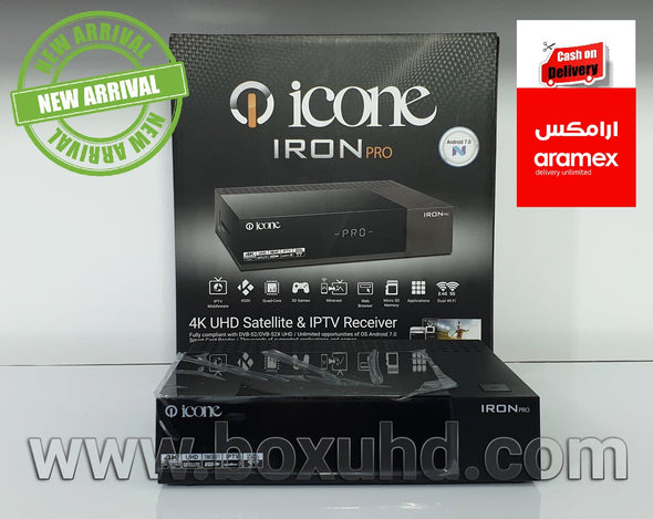 NEW 2019 ICONE IRON PRO  MULTISTREAM SATELLITE & ANDROID LINUX  IPTV RECEIVER