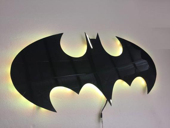 The classic bat remote controlled led wall light nighlight lit the classic bat remote controlled led wall light nighlight lit wall lights mozeypictures Images