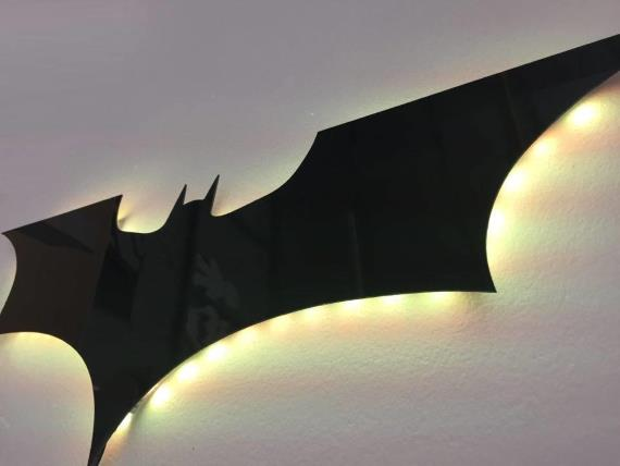 The dark knight remote controlled led wall light nighlight lit the dark knight remote controlled led wall light nighlight aloadofball Image collections