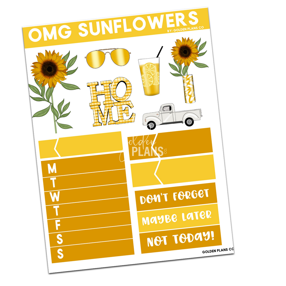 Load image into Gallery viewer, OMG GIRLS!  SUNFLOWERS MINI KIT