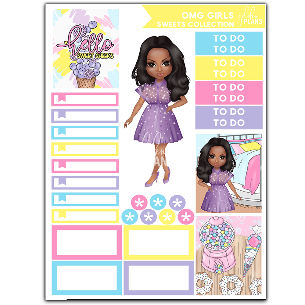 Load image into Gallery viewer, OMG GIRLS!  SWEETS JULY STICKER KIT