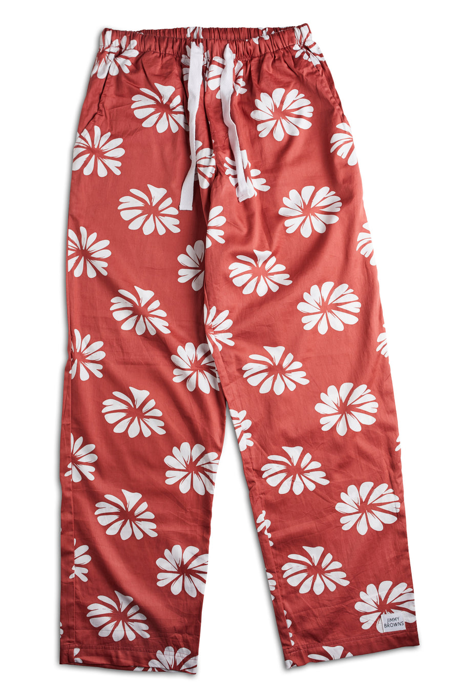 Burnt Red Flower | Pants