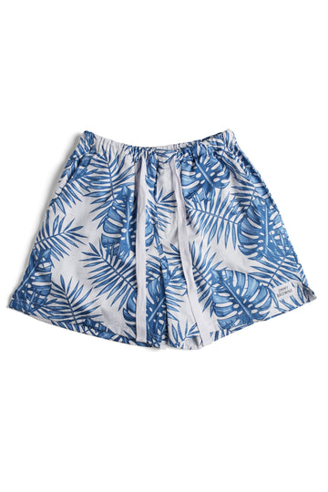 Blue Palm Leaf | Mid Short