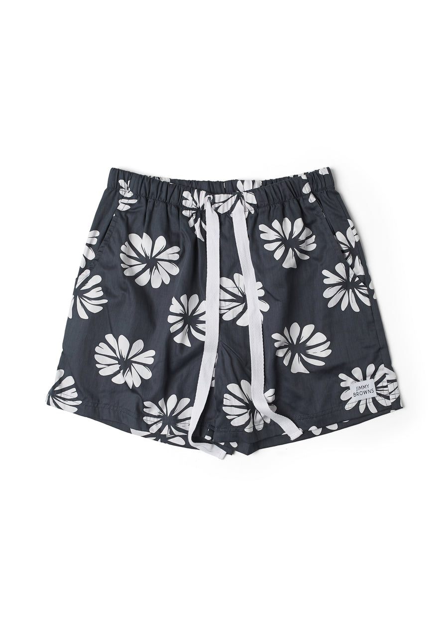 Flower | Aged Black | Mid Short