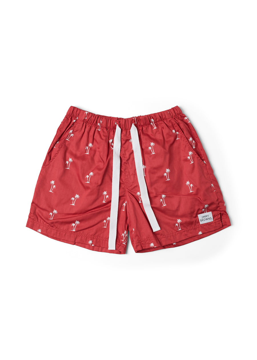 Palm Tree | Bright Red | Mid Short