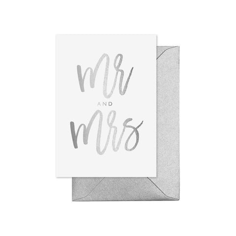Mr And Mrs Silver Card