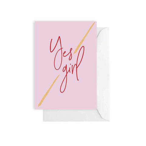 Yes Girl Card