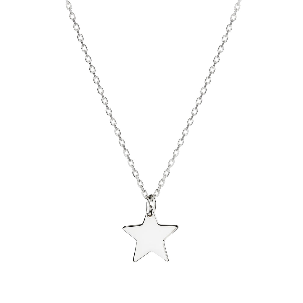 Silver Large Star Charm Necklace
