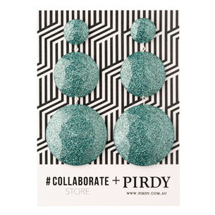# Collaborate Store X Pirdy Glitter Disc Drop Earrings