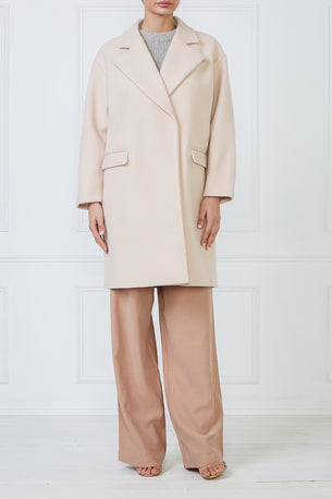 Pearl Long Coat - Soft Pink