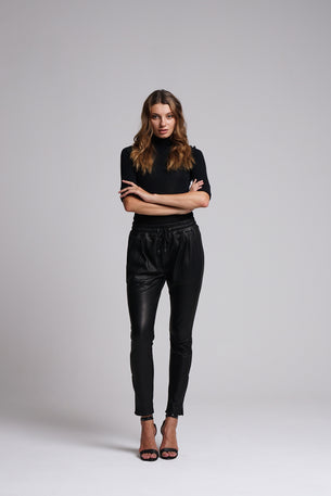 Gemma Leather Jogger