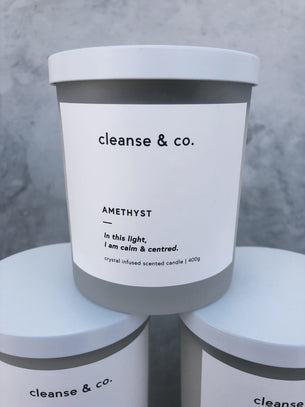Cleanse Candle - Amethyst