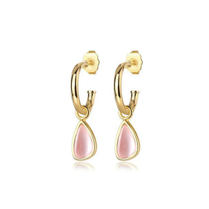 Morrison Charm Earrings - Rose Quartz