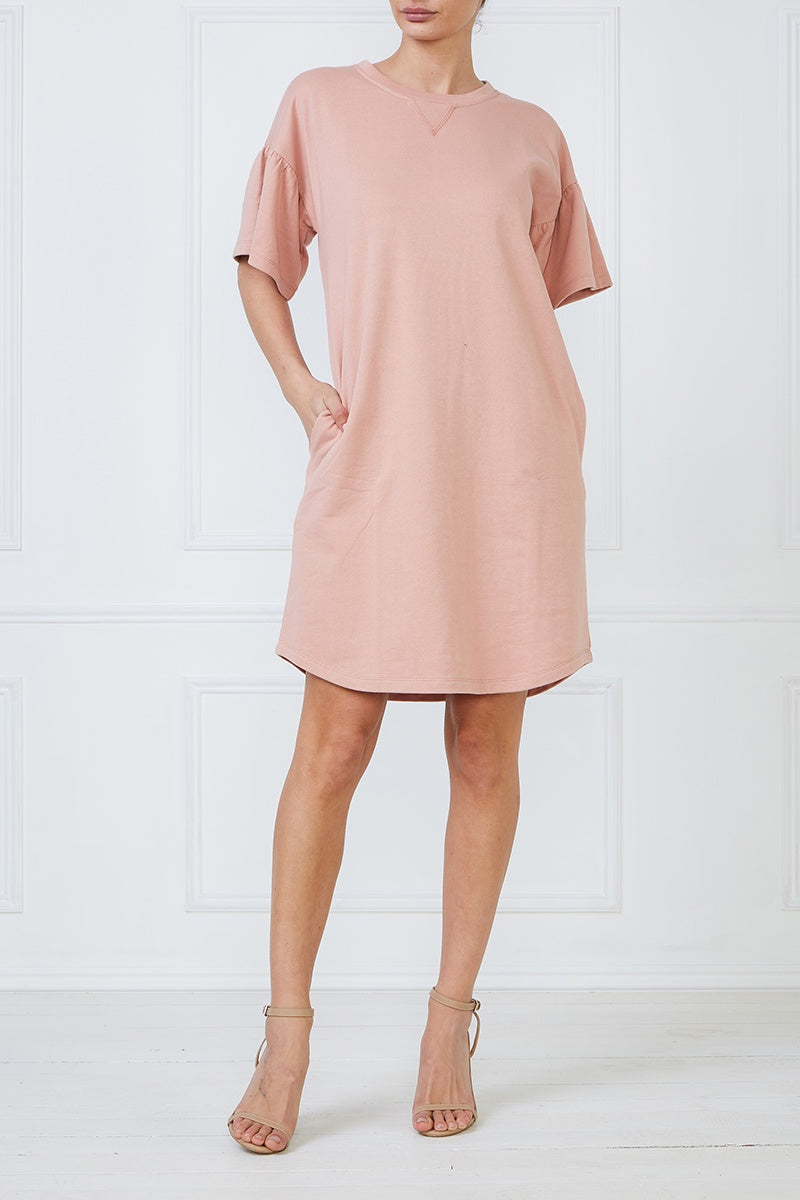 Platinum Shift Dress - Pink
