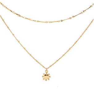 Bria Layered Necklace - Soft Gold