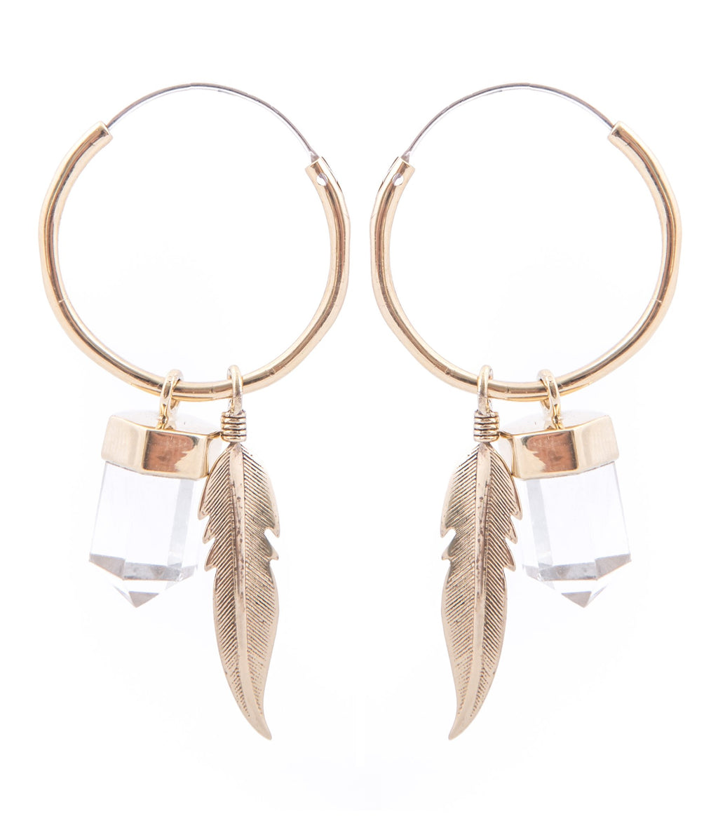 Gypsy Soul Charmed Earrings - Gold