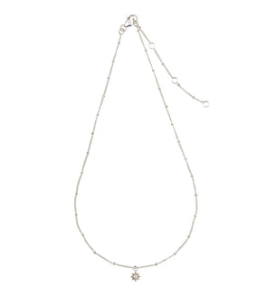 Little Ray Charm Necklace - Silver/Pearl