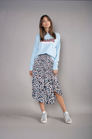 Pleated Skirt - Soft Leopard