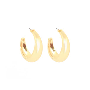 Penelope Statement Hoop - Polished Gold