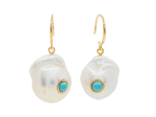 Turquoise Bay Earrings - Gold