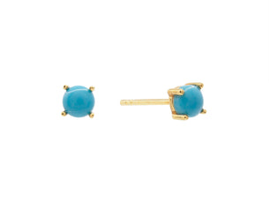 Castle Rock Studs - Turquoise - Gold