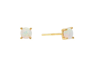 Castle Rock Studs - Opal - Gold