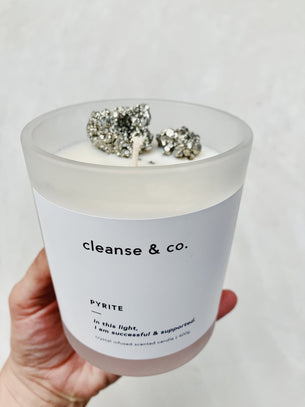 Cleanse Candle - Pyrite