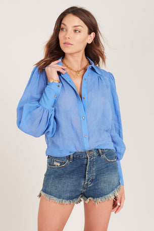 Symphony Tailored Shirt - Stone Blue