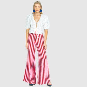 The Boardwalk Pant - Whippy Stripe Red/Pink
