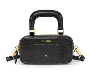 Journey Cross Body/Hip Bag - Noir Croco