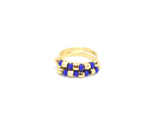 Caterina Ring Set - Royal Blue