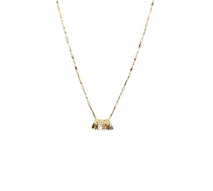 Millie Mini Tassel Choker - Gold