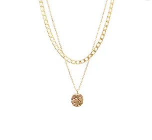 Odine Double Necklace - Gold