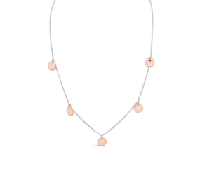 Multi Disc Necklace - Two Tone