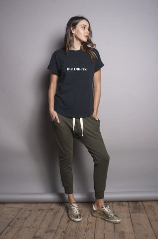 The Ponte Drop Crotch Pant - Olive