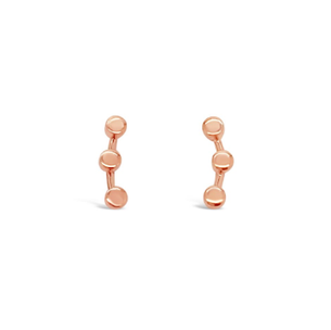 Tiny Triple Circle Ear Cuff - Rose Gold