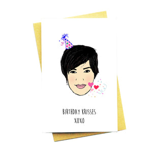 Birthday Krisses xoxo Card